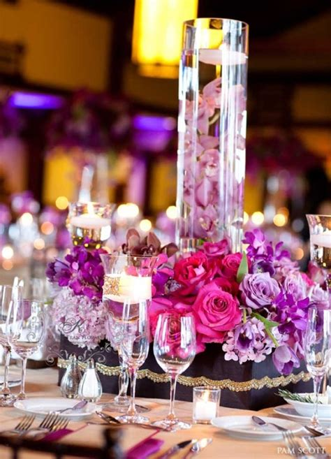 Candle Vase Wedding Centerpieces by Charming Purple Candle Wedding Centerpieces Ideas And