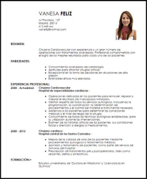 Modelo Curriculum Vitae Medico En Ingles Modelo Curriculum Vitae Cirujano Ejemplo Cv Livecareer