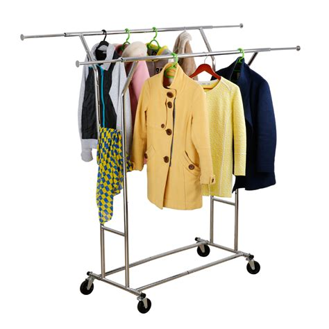 How To Make Garment Rack by Langria Chrome Clothes Rail Garment Dress Hanging Display Stand Shoe Rack Ebay