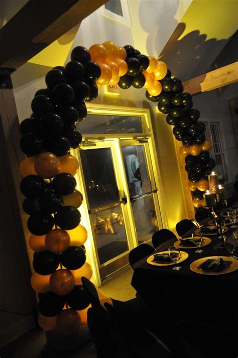 party themes black and gold black gold hollywood birthday party ideas photo 6 of 6