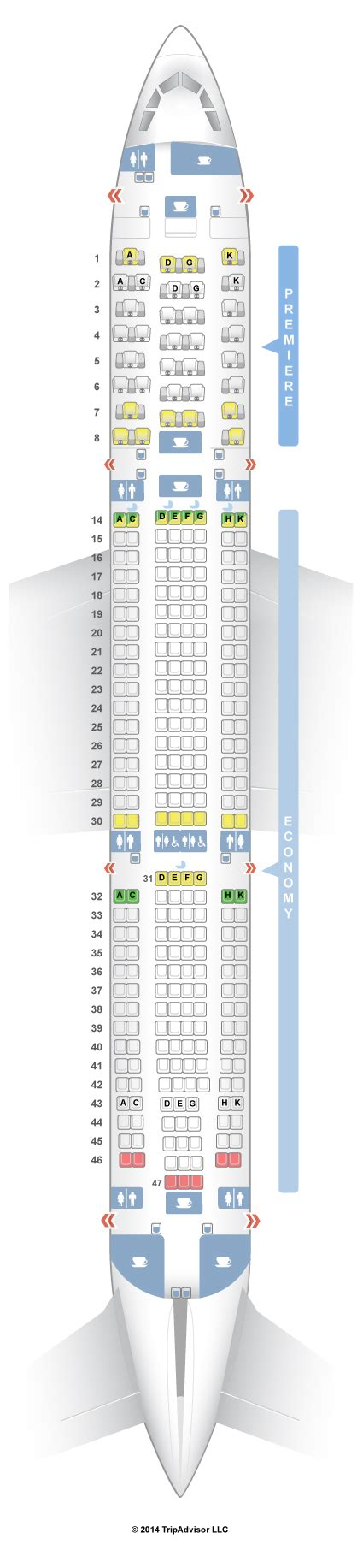 jet seats seatguru seat map jet airways airbus a330 300 333