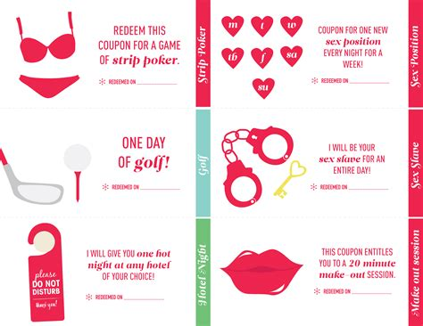 23 love coupon book ideas for your next anniversary gift