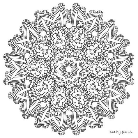 intricate mandala coloring pages 132 best images about mandalas para imprimir on