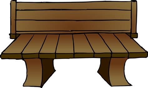 gambar vektor gratis kayu bangku taman panjang