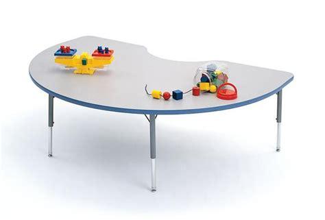 48 quot x 72 quot kidney 4000 series preschool table standard height