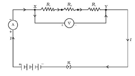 three resistors are connected in series across a battery the value of each resistance omtex classes find the expression for the resistors connected in series