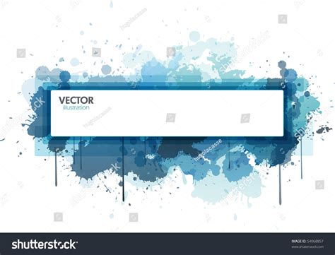 design rectangle html rectangle paint splat design stock vector illustration