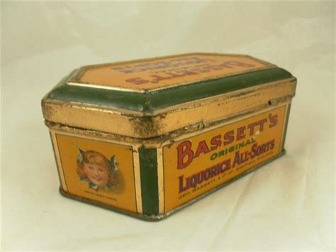 old shop stuff old confectionary tin bassetts original