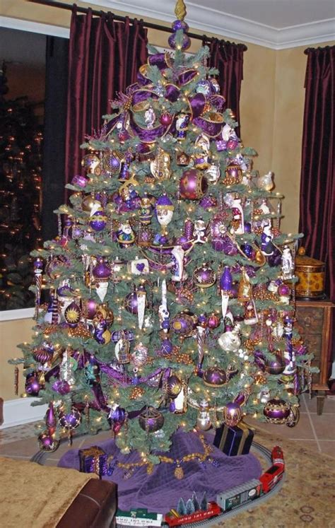purple christmas tree ornaments different tree styles