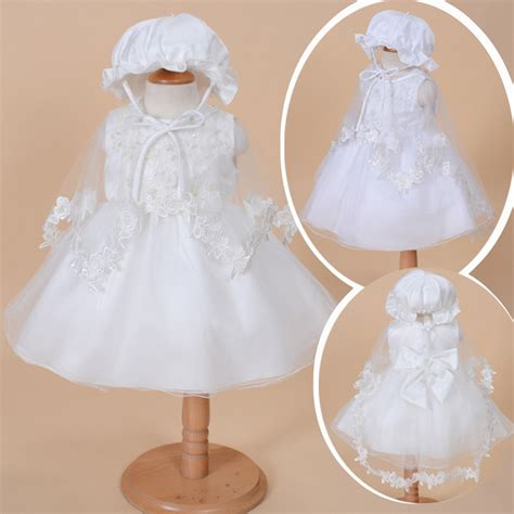 Dress Baby 3 In 1 aliexpress buy 3 pcs set baby dress vintage baby christening dresses 1 year birthday