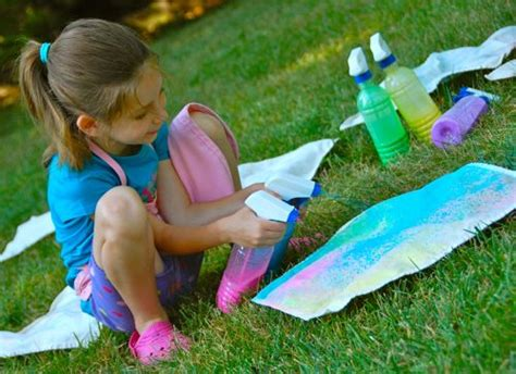 spray paint for toddlers colorful spray painted fabric inner child