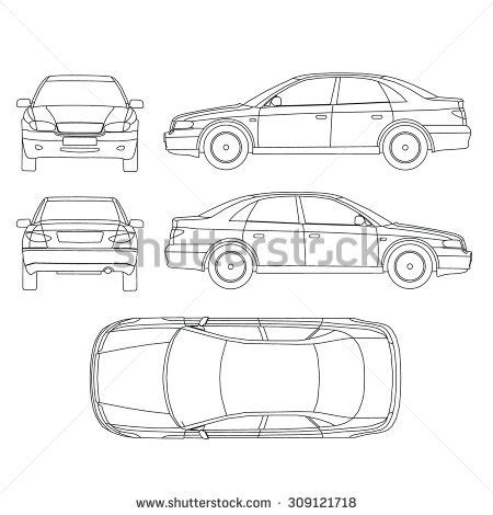 vehicle report diagram car line drawing stock images royalty free images