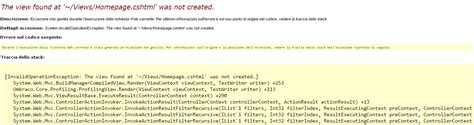 view layout not found umbraco7 umbraco quot system invalidoperationexception the