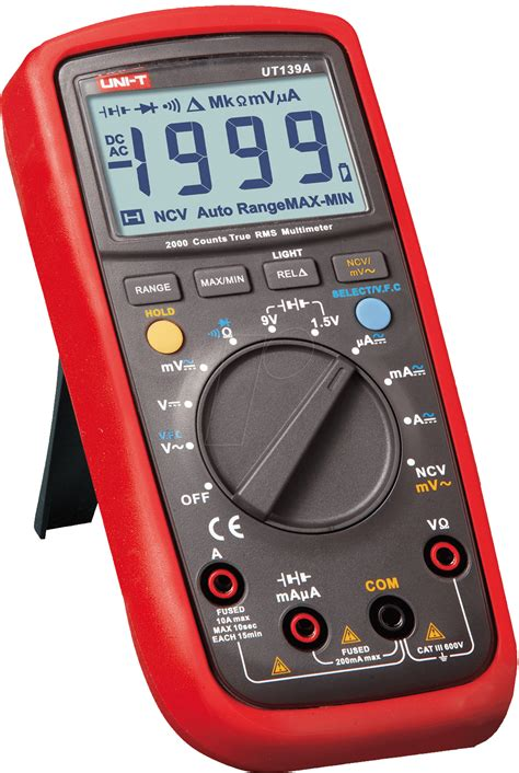 Multimeter Elektronik ut 139b uni t trms digital multimeter 4000 counts bei