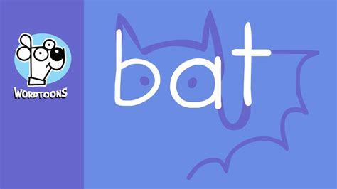 The Word draw the word bat into a bat wordtoon bat