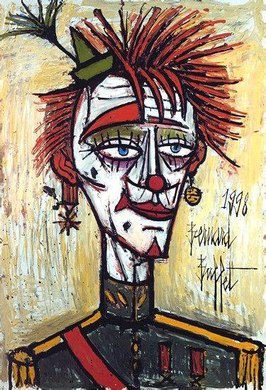 clown militaire 1998 huile sur toile 130 x 89 cm