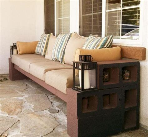 cinder block bench with back diy cinder block bench in the garden creative ideas for