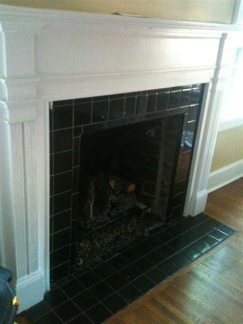 black tile fireplace fireplace with tile traditional living room