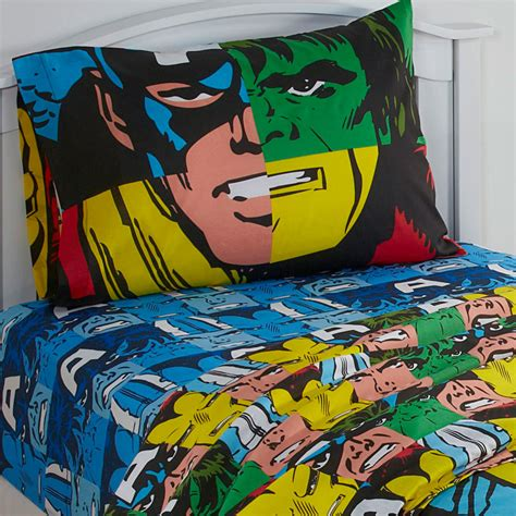 superhero bed sheets 3pc marvel avengers twin bed sheet set comic book hulk