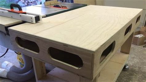 Torsion Box Out Feed Amp Assembly Table By Bigfoot11