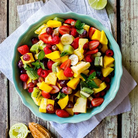 fruit salad dressing summer fruit salad with lime mint dressing simply delicious