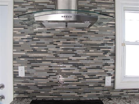 stainless steel and glass backsplash contemporary