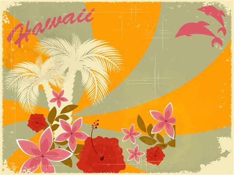 hawaiian retro holiday ppt backgrounds design holiday