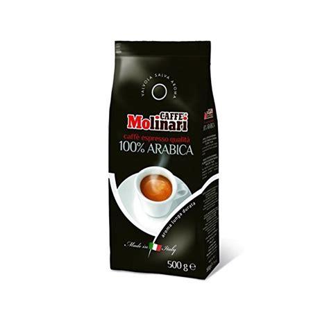 espresso beans 100 arabica caff 232 molinari espresso 100 arabica 500 g whole bean 9 99