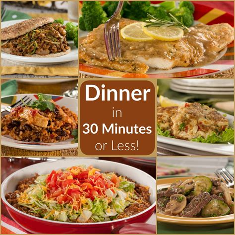 quick and easy dinners in 30 minutes or less everydaydiabeticrecipes com