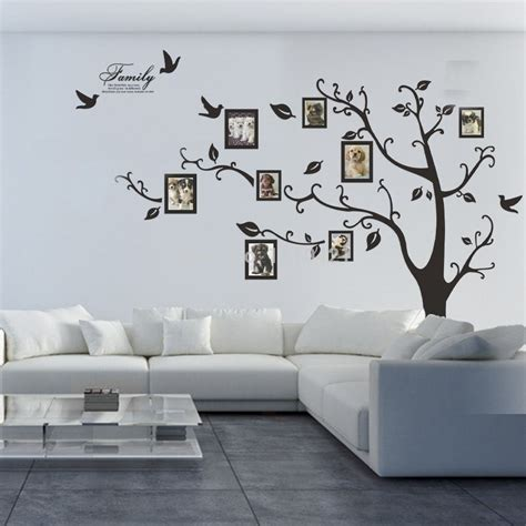 temporary wall stickers free shipping 80 quot x 100 quot photo frame family tree removable wall stickers vinyl