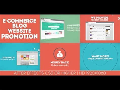 after effects templates quot e commerce blog website promotion
