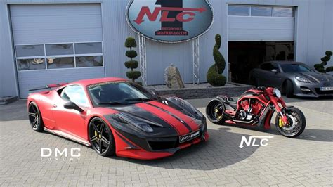ferrari 458 custom customized ferrari 458 italia and matching bike showcased
