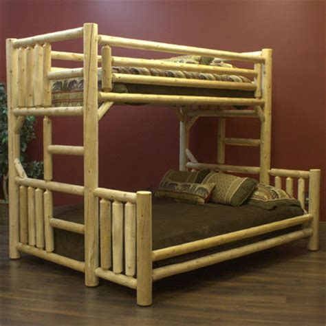 bunk bed queen over twin lakeland mills twin over queen bunk bed reviews wayfair