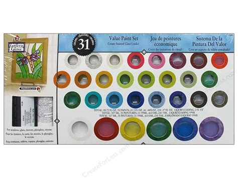 plaid gallery glass window color paint set 31color createforless