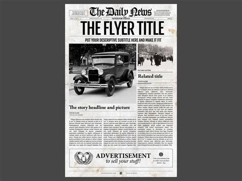 Newspaper Template 1 Page Newspaper Template Adobe Photoshop 11x17 Inch Newspaper Designers Photoshop Newspaper Template