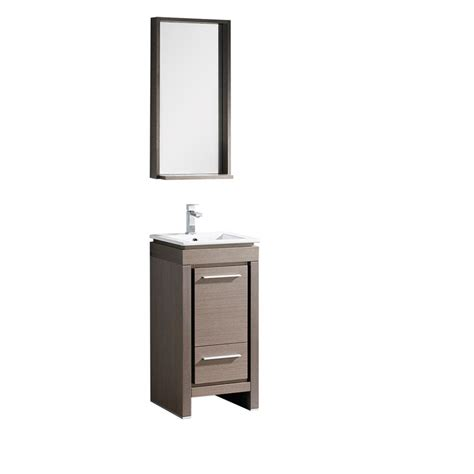 165 inch single sink bathroom vanity in gray oak with