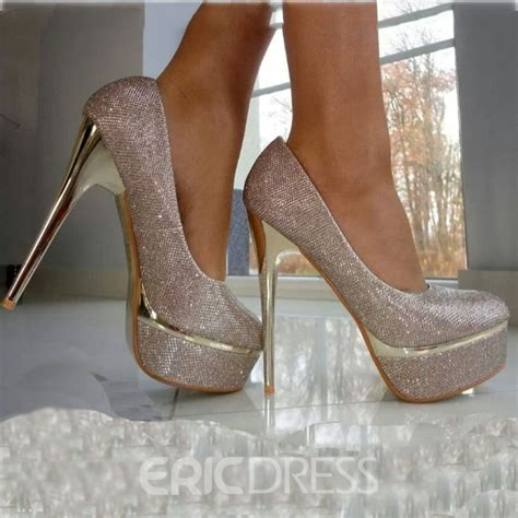 Prom Shoes by Gorgeous Silver High Heel Prom Shoes With Sequins 10887291