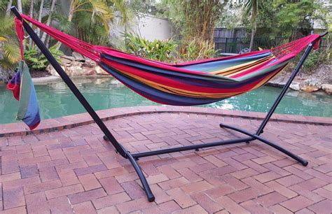 free standing hammock free standing hammock red and yellow canvas hammock with