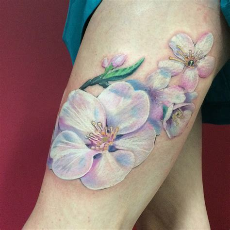 pastel tattoo lovely white and pastel flower by nadine from