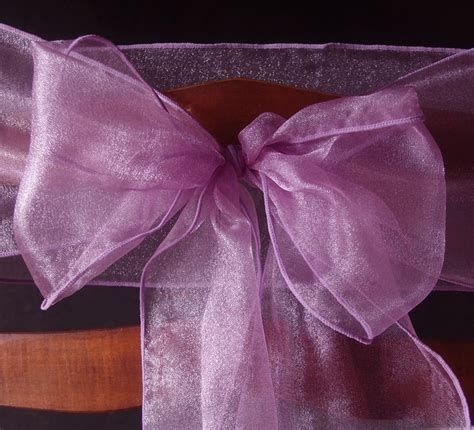 Organza Chair Sashes by Lavender Organza Chair Sashes 9ft 10 Pack Ebay
