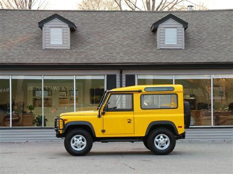 land rover defender 90 yellow 1995 land rover defender 90 station wagon copley motorcars