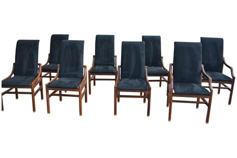 henredon dining room set chairish henredon walnut dining room chairs set of 8 chairish