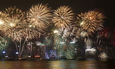 hong kong new year show world welcomes 2016 despite terror fears world