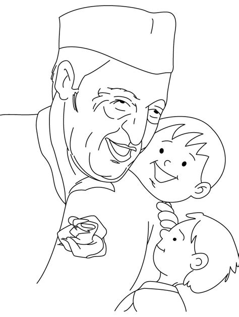 Chacha Nehru Coloring Page Download Free Chacha Nehru Coloring Pages Of Children S Day