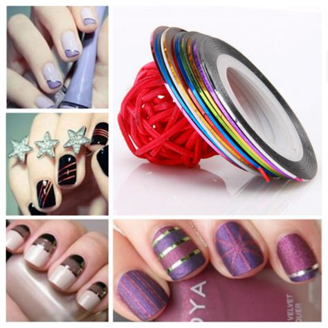 anneui nail stripping line 10 color striping line nail decoration sticker