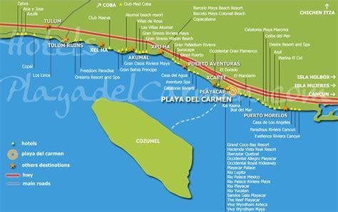 riviera maya map  images riviera maya cancun trip