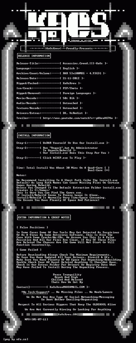 Kaos Gamer 01 keren gratis assassin creed 3 rip r g mechanics