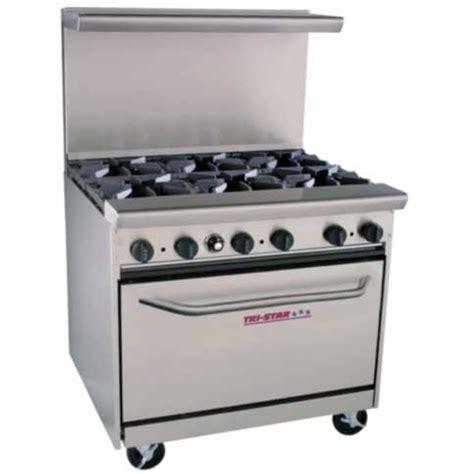 Oven Gas Tristar tri tsr 6 6 burner restaurant series range chef s