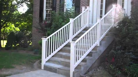 outdoor stair railings tips safety for vinyl stair