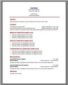 Resume Samples Using Microsoft Word by Tamtoomilji Resumes Templates For High